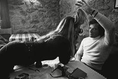 "missbrigittebardot: "" Brigitte Bardot & boyfriend Christian Kalt, 1970s """