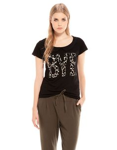 Bershka United Kingdom - Bershka text T-shirt
