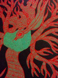 """night life of trees"" (tara books), ilustrado por bhajju shyam, ram singh urveti e durga bai."
