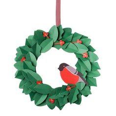 Decorazioni natalizie fai da te - Ghirlanda natalizia di carta