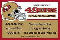 San Francisco fantasy football team names button Football Team Names, 32 Nfl Teams, Football Helmets, Cool Fantasy Football Names, Nfl Fantasy Football, Best Team Names, Colts Super Bowl, Falcons Game, Nfc South