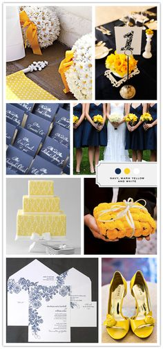 this will be my color scheme! oh how I love navy and yellow. so cute.
