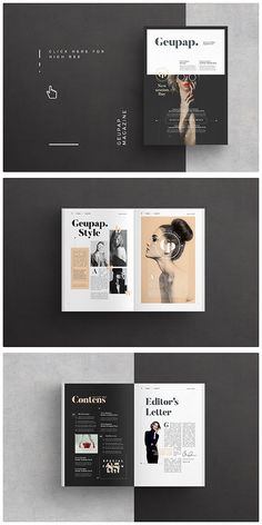 Fashion Magazine Template #brochure #template #indesign #magazine #lookbook #portfolio #catalog #fashion