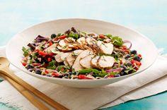 Blueberry-Balsamic Grilled Chicken Salad recipe