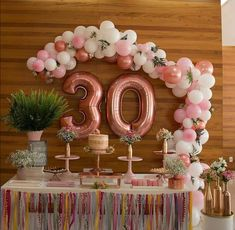 Worldwide Delivery by EVALonlinePartyShop 30th Party, 30th Birthday Parties, Birthday Party Themes, Diy Birthday, 30th Birthday Ideas For Women, 30th Birthday Decorations, Deco Table, Decoration Table, Party Planning