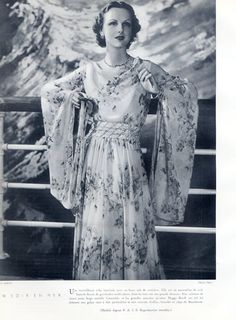 Maggy Rouff (Couture) 1935 Dress for cruise, Pap studio