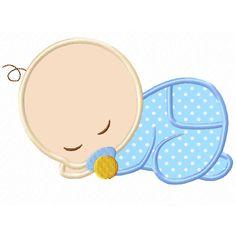 Sleeping Baby Applique