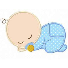 Sleeping Baby Applique