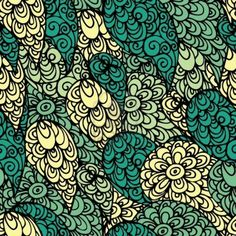 Seamless abstract doodle pattern Stock Photo