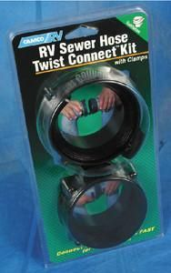 Camco 39543 Twist Connect Kit Sewer Fitting