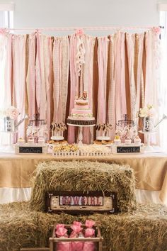 New Shabby Chic Baby Shower Girl Cowgirl Party 48 Ideas Country Birthday Party, Horse Birthday Parties, Farm Birthday, Farm Party, Birthday Party Decorations, Horse Party Decorations, Shabby Chic Birthday Party Ideas, Birthday Banners, Birthday Ideas