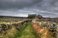 Along This Lonely Track Lies A Derelict Cornish Farm, Waiting For Restoration, Someone To Call It Home Once Again. West Cornwall, Picture Boxes, Dry Stone, Great Britain, Monument Valley, Countryside, Scenery, England, History