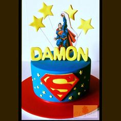 C for cake - Superman cake