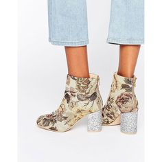 ce7bee8b70e ASOS RAMMA Chain Ankle Boots (€49) ❤ liked on Polyvore featuring shoes