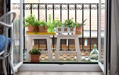 Extend Your Home Outdoors - Furnish a tiny balcony with plants to extend living space (& other tips)