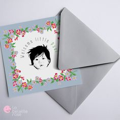 baby annoucement cards by La Belette Rose