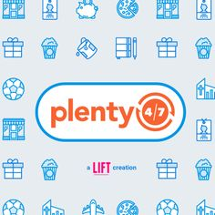 Plenty 4/7 | LIFT Creations LIFT kicked off with a brand refresh for Plenty 4/7 in the initial brand identity stage. Plenty 4/7 had a basic logo concept that we fine-tuned to reflect their brand ethos. We revamped the logo by converting it into a scalable vector and softened it for a more friendly look. Allowing the logo to govern the brand identity, LIFT combined its friendly tone with a clean, modern aesthetic to devise an app-like feel... http://www.liftcreations.com/portfolio/plenty-47/