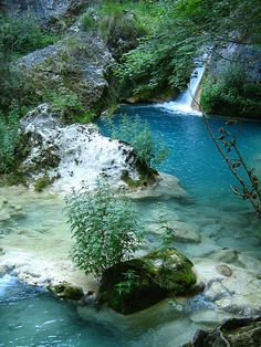 Urederra River, Urbasa-Andia National Park, Navarre, Spain.