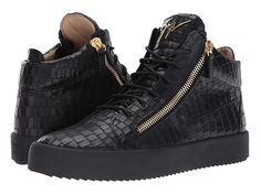 Giuseppe Zanotti May London Mid Top Zayn Sneaker Men's Lace up casual Shoes Casual Sneakers, All Black Sneakers, Casual Shoes, Shoes Sneakers, Black Oxfords, Black Shoes, Lv Shoes, Giuseppe Zanotti Sneakers, Womens Fashion Sneakers