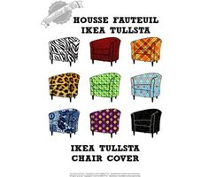 Ikea Tullsta chair cover pattern patron housse by NeedlesAndCo, €10.00