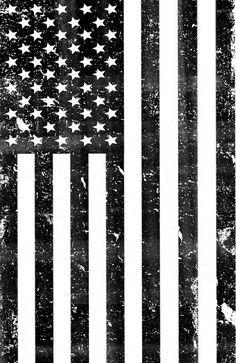 Dirty Vintage Black and White American Flag Art Print by rexlambo Black And White Flag, Black Art, American Wallpaper, Patriotic Tattoos, Flag Tattoos, Tatoos, American Flag Art, Mexican American, Arte Dope