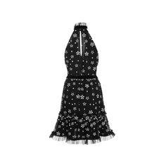 Alexis Poppy Embellished Halter Dress (4419040 PYG) ❤ liked on Polyvore featuring dresses, keyhole back dress, embellished cocktail dress, sequin dresses, keyhole neckline dress and sequin embellished dress
