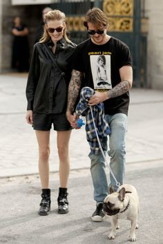 Punk perfect, even the dog.