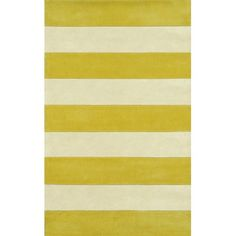 American Home Rug Co. Beach Rug AT064 Yellow / Ivory Boardwalk Stripes Rug    Also in blue