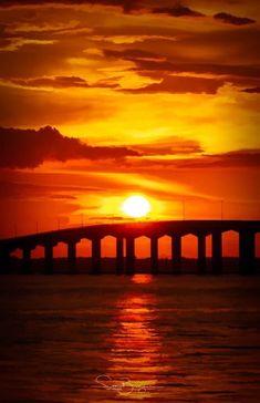 Bay St. Louis bridge Gulf Of Mexico, Mississippi, St Louis, Coast, Celestial, Sunset, Stone, Bridges, Outdoor