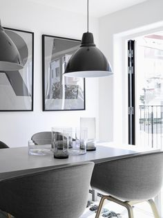 *dining rooms, modern interiors* - white grey black contemporary