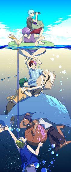 Kiseki no Sedai (Generation Of Miracles) - Kuroko no Basuke - Image - Zerochan Anime Image Board Aomine Kuroko, Kise Ryouta, Kagami Taiga, Ryota Kise, Midorima Shintarou, Akashi Seijuro, Manga Anime, Fanarts Anime, Anime Characters