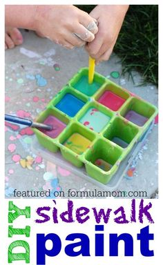 DIY Sidewalk Paint - the perfect summer activity for little ones
