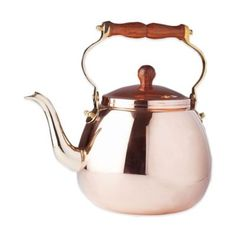 Old Dutch International 4 qt. Tea Kettle in Copper with Wood Handle…