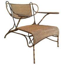 Rare Vintage Garden Armchair signed Carlo Mollino - Italian Design 1950