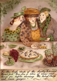 Wasp and Lemon Pie. by kim glass, giclee print of watercolour painting Painting People, Wasp, Watercolour Painting, Giclee Print, Funny Stuff, Lemon, Sisters, Pie, Illustrations