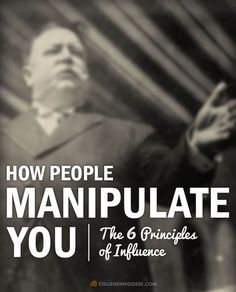 People Manipulate You: The 6 Principles of Influence Psychology: Here's how people use the 6 principles of influence to manipulate your decisions.Psychology: Here's how people use the 6 principles of influence to manipulate your decisions. Business Intelligence, Life Skills, Life Lessons, How To Influence People, Psychology Facts, Personality Psychology, Color Psychology, Behavioral Psychology, Educational Psychology
