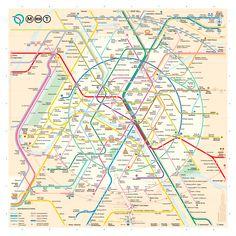 Un nouveau plan du métro de Paris
