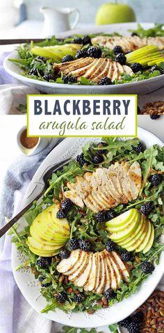Blackberry Arugula Chicken Salad
