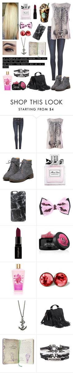 """Punk Casual/Concert Outfit"" by imetkevinghost ❤ liked on Polyvore featuring rag & bone, Iron Fist, Christian Dior, Casetify, Smashbox and Proenza Schouler"