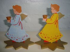 Retro Christmas danish angels 1950s. #retro #danish #christmas #angels #1950 #dansk #jul #engle. From www.TRENDYenser.com. SOLGT.