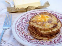 Coconut flour pancakes... with gelatin! It sounds like a weird addition, but the texture is perfect (and not crumbly like many grain-free pancakes). Super healthy, too!