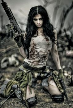 It's not about being a zombie hunter...it's about being a slutty anything in…
