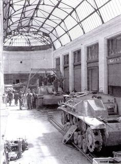 """supermarketsecurity: """" StuGs being repaired at a depot """""""