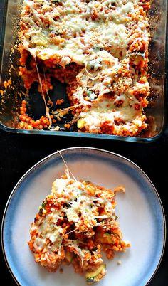 Vegetarian Baked Pizza Couscous – Simply Taralynn