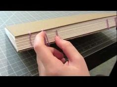 How to make a book using the coptic stitch - an excellent video tutorial.   *Note* Instead of buying expensive waxed thread, you can rub plain candle wax onto regular thread.