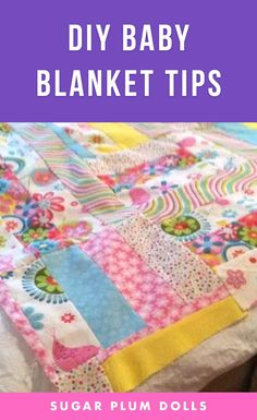 Learn how to make adorable Baby Blankets ! Ideas and Tips to make a quick and easy handmade baby blanket Part 1 of 2 videos. #babyblanket #craft #diy #craftideas #craftproject #diyproject #sewing #sewingproject #diysewing #handmade