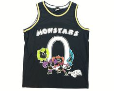 0e189a4a3e3aa Vintage Monstars Jersey Space Jam Tune Squad 90s Basketball Authentic