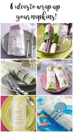 Here are 6 fun and interesting Napkin Wrap ideas for your next tabletop when entertaining at home. From rustic to whimsical, there's something for everyone!