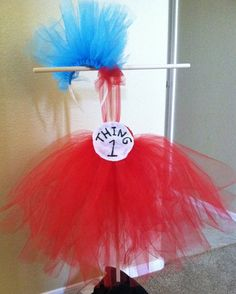 Thing 1 and Thing 2 Costumes for Little Girls by TiffysBootique, $65.00