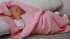 Babydecke Waffelmuster